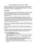 Frankenstein Major Writing Project Assessment