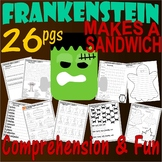 Frankenstein Makes a Sandwich : Halloween Poem Worksheets