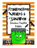 Frankenstein Makes a Sandwich Literature Pamphlet Foldable