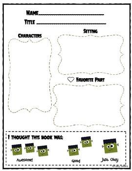 Frankenstein Math and Literacy bundle