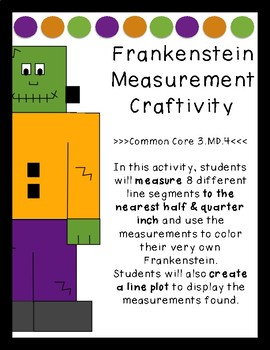 Frankenstein Measurement Craftivity (to the nearest half a