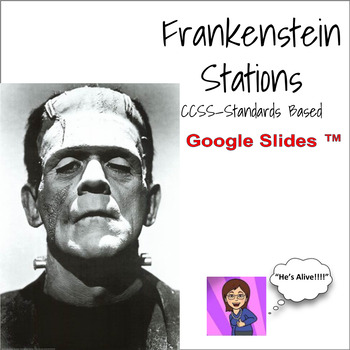 Frankenstein Novel Literacy Stations