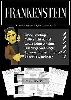 Frankenstein Novel Study COMMON CORE Aligned