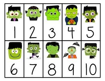 Frankenstein Number Cards