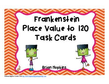 Frankenstein Place Value to 120 Task Cards