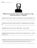 Frankenstein Poem by Field - Theme and Vocabulary Lesson