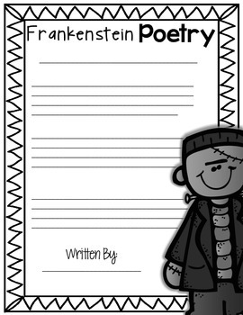 Frankenstein Poetry Printable