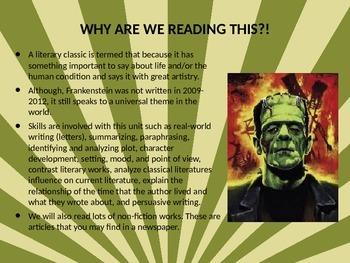 Frankenstein Powerpoint