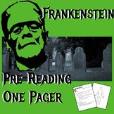 Frankenstein Pre-Reading One Pager