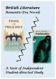 Frankenstein/Pride & Prejudice Unit Plan for Joint Self-Directed Novel Studies