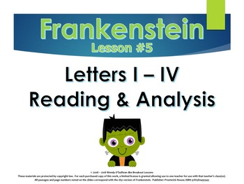 Frankenstein Promethean Traits Close Passage Analysis of Letters I through IV