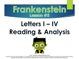 Frankenstein Letters I - IV and Promethean Character Analy