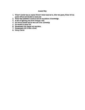 Frankenstein Quiz Chapters 1-5