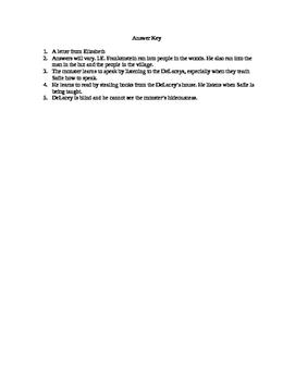 Frankenstein Quiz Chapters 6-16