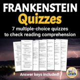 Frankenstein Quiz Bundle