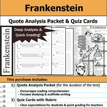 Frankenstein - Quote Analysis & Reading Quizzes