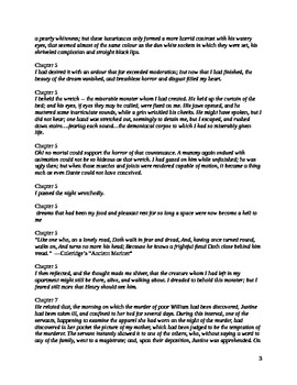 Frankenstein Quotes for Discussion document