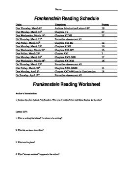 Frankenstein Reading Packet