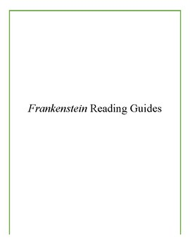 Frankenstein Reading Unit