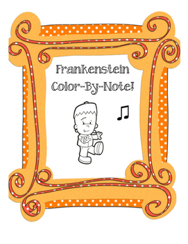 Frankenstein Color-By-Note!