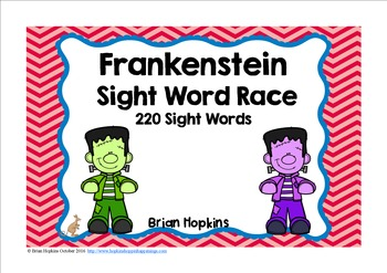 Frankenstein Sight Word Race