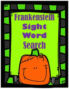 Frankenstein Sight Word Search