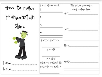 Frankenstein Slime Experiment - Studying the States of Matter