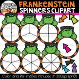 Frankenstein Spinners Clipart Bundle {Halloween Clipart}