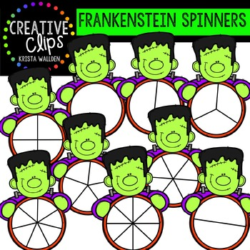 Frankenstein Spinners {Creative Clips Digital Clipart}
