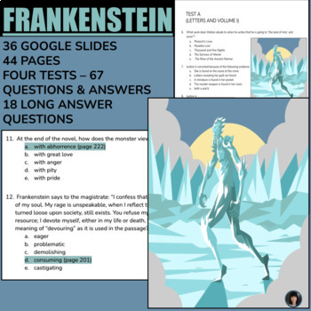Frankenstein (two units combined) Literature: ELA: essay writing