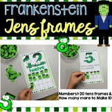 Frankenstein Ten Frame Numbers