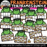 Frankenstein Ten Frames Clipart Bundle {Halloween Clipart}
