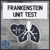 Frankenstein Unit Test for AP Lit