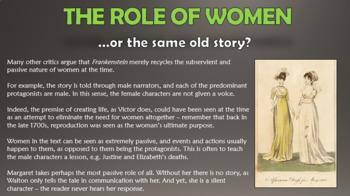 Frankenstein: The Portrayal of Women!