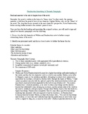 Frankenstein Thematic Paragraph Assignment Sheet