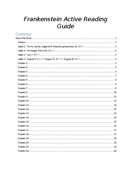 frankenstein unit teaching resources teachers pay teachers rh teacherspayteachers com Frankenstein Study Guide for Questions Frankenstein Study Questions and Answers
