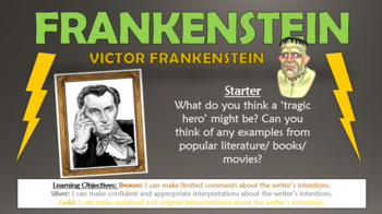 frankenstein tragic hero