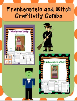 Frankenstein & Witch Craftivity Halloween pack