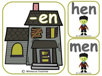 Frankenstein Word Families (CVC Words)