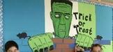 Frankenstein Word Wall Bulletin Board