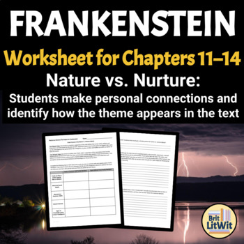 nature versus nurture in frankenstein The nature versus nurture debate is about whether human behaviour is determined by the environment, either prenatal or during a person's life, or by a person's genes.