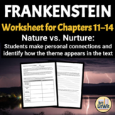 Frankenstein Worksheet: Nature vs. Nurture Debates