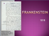 """Frankenstein: a Modern Prometheus"" Mary Shelley Powerpoint"