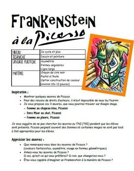Frankenstein à la manière de Picasso: Halloween