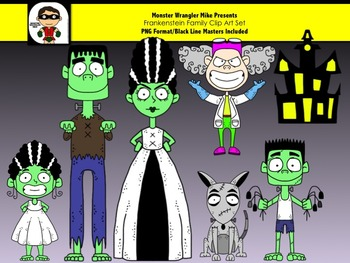 Frankenstein and Family Halloween Clip Art Collection