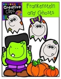 Frankenstein and Ghosts {Creative Clips Digital Clipart}