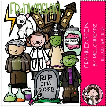 Frankenstein clip art- Melonheadz clipart