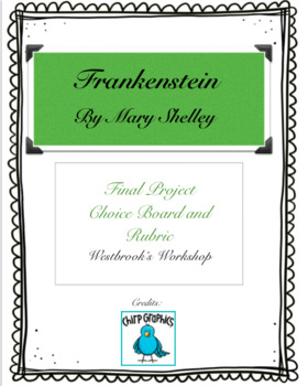 Frankenstein by Mary Shelley Choice Board