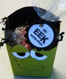 Frankenstein fry box for halloween treats!  (Set of12)