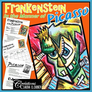 Frankenstein in the Style of Picasso: Halloween, Cubism